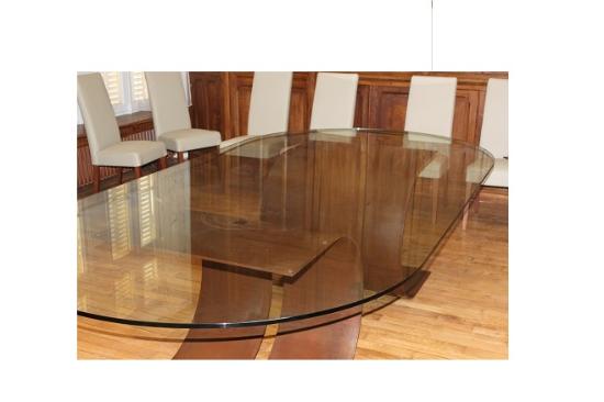 D co mobilier meuble en verre habillage et rev tement - Verre pour table sur mesure ...